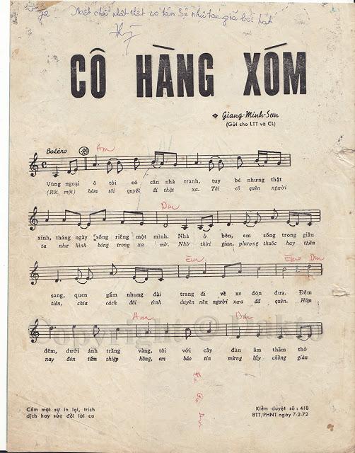 [Hình ảnh] Sheet Cô Hàng Xóm | Huyền thoại Lê Minh Bằng