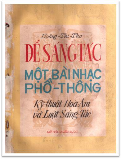 """[Hình ảnh] """"Để Sáng Tác Một Bài Nhạc Phổ Thông"""" của nhạc sĩ Hoàng Thi Thơ xuất bản vào năm 1953   Thanh Sơn & Những sáng tác để đời"""